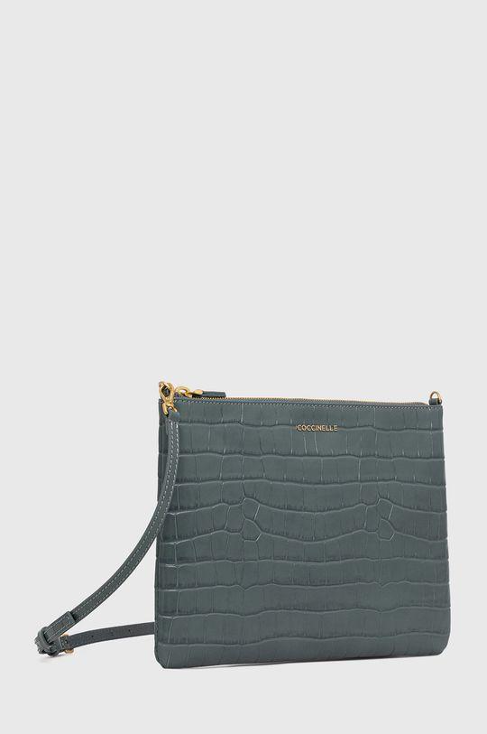Coccinelle - Poseta de piele IV3 Mini Bag albastru metalizat
