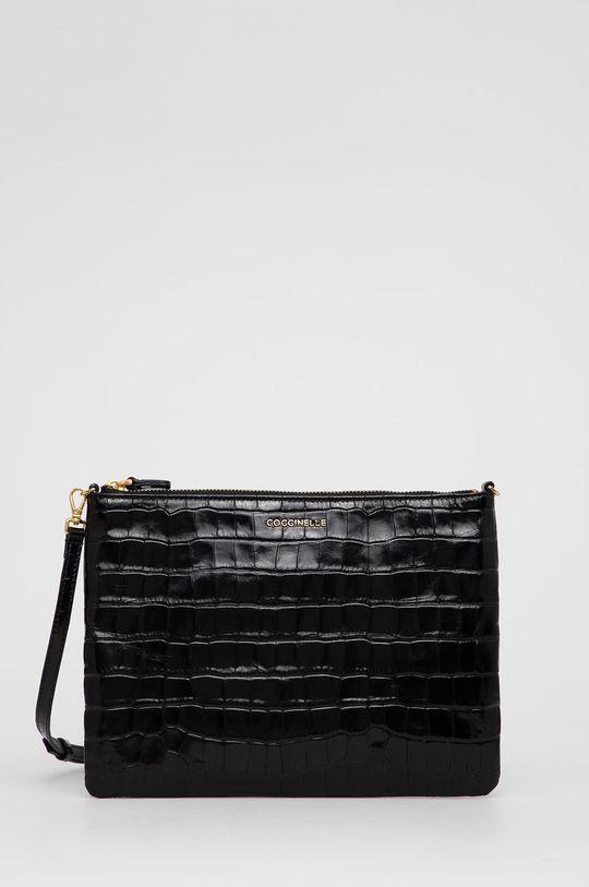 čierna Coccinelle - Kožená kabelka IV3 Mini Bag Dámsky