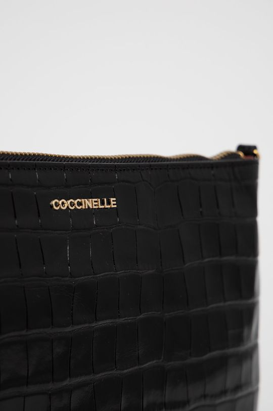 Coccinelle - Kožená kabelka IV3 Mini Bag čierna