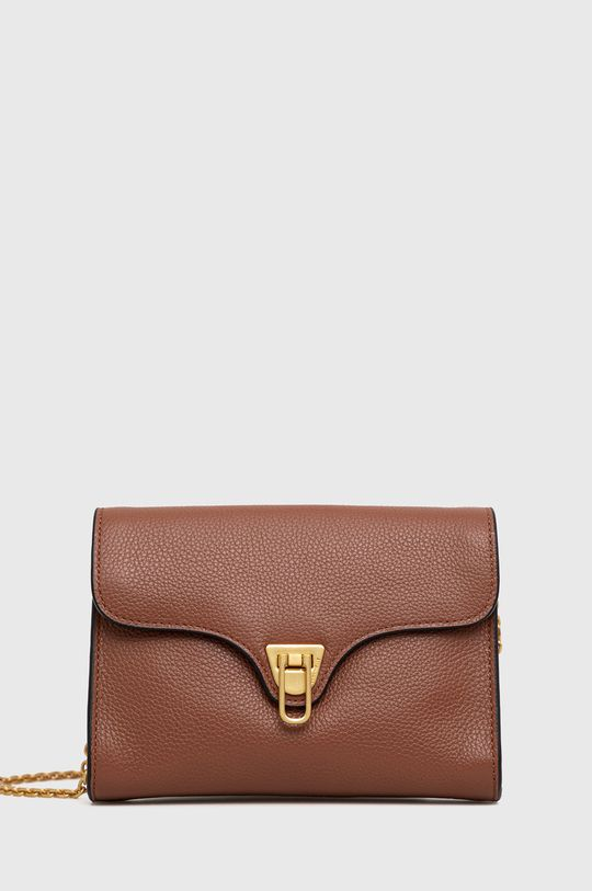 zlatohnedá Coccinelle - Kožená kabelka Mini Bag Dámsky