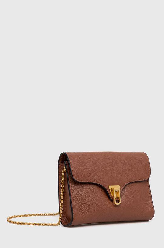 Coccinelle - Kožená kabelka Mini Bag zlatohnedá