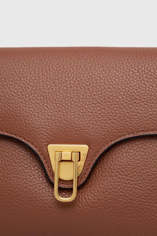 zlatohnedá Coccinelle - Kožená kabelka Mini Bag