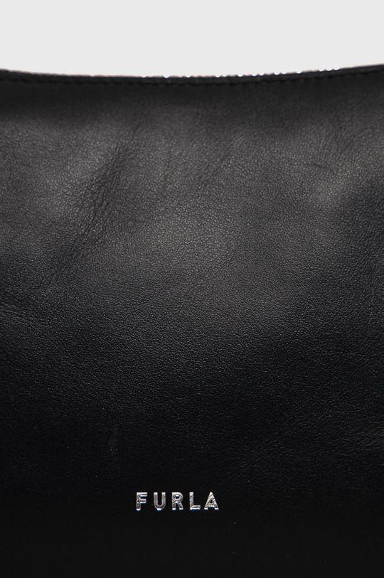 Furla - Kožená kabelka Moon čierna