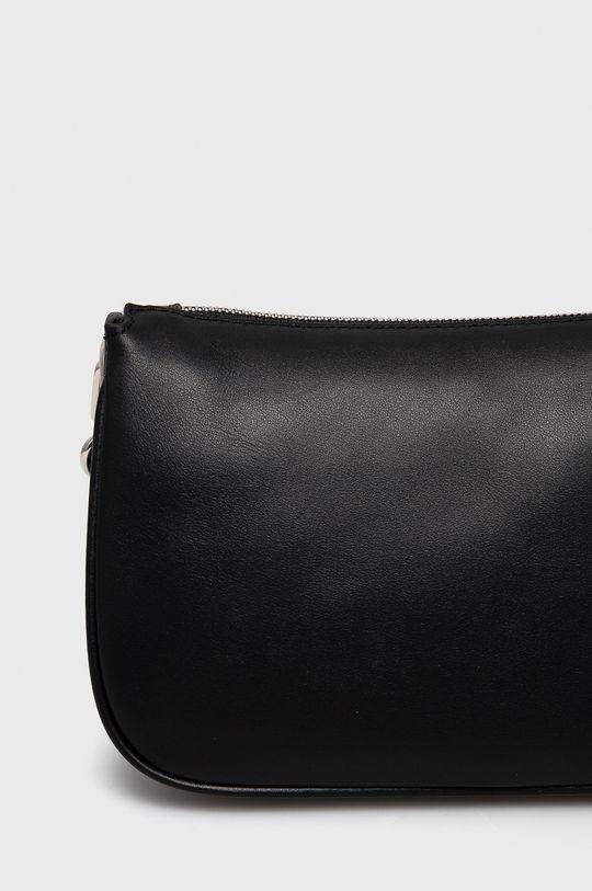 čierna Furla - Kožená kabelka Moon