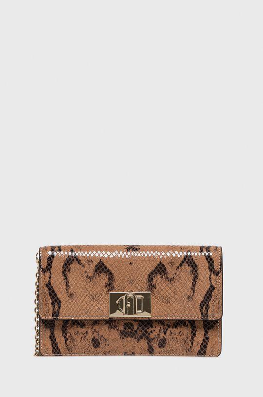 hnedá Furla - Kožená kabelka 1927 Dámsky