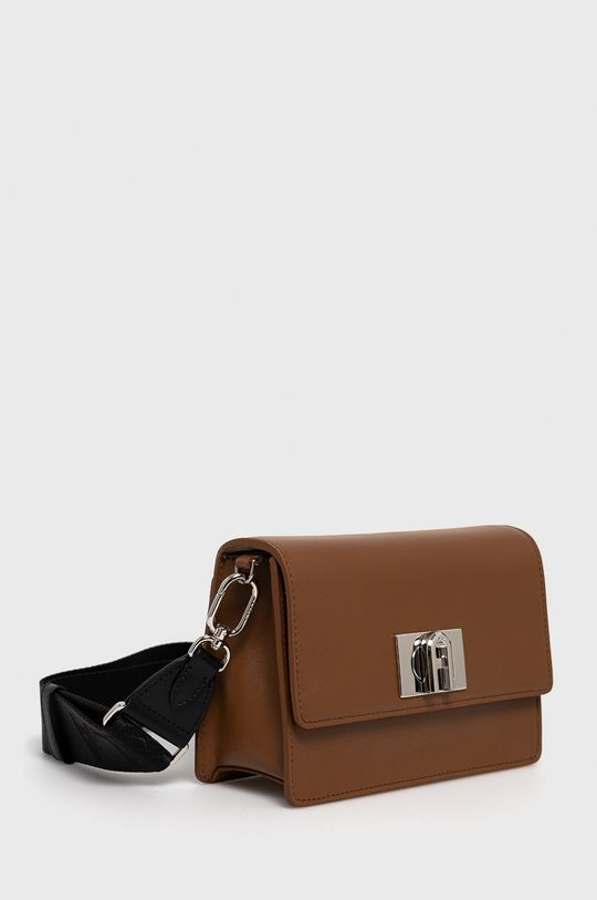 Furla - Kožená kabelka 1927 Soft  Podšívka: 100% Polyester Hlavní materiál: 15% Polyester, 85% Přírodní kůže