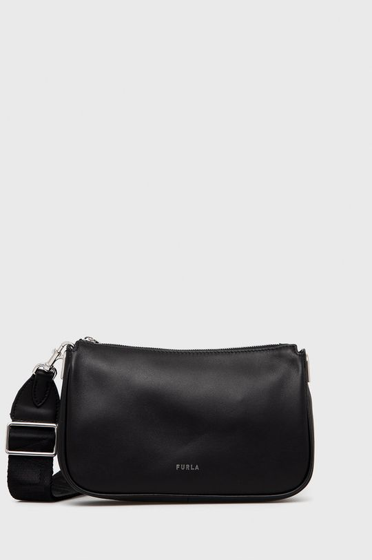 černá Furla - Kožená kabelka Dámský