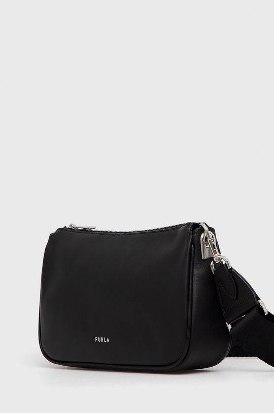 Furla - Kožená kabelka černá