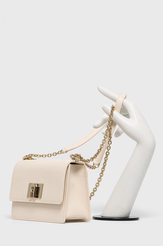 Furla - Kožená kabelka 1927 krémová