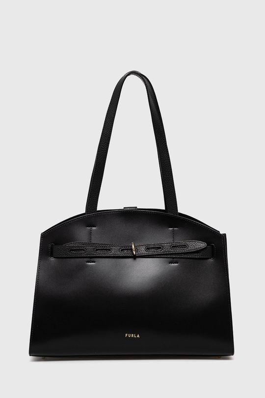 černá Furla - Kožená kabelka Margherita Dámský