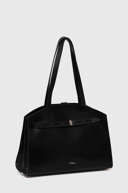Furla - Kožená kabelka Margherita černá
