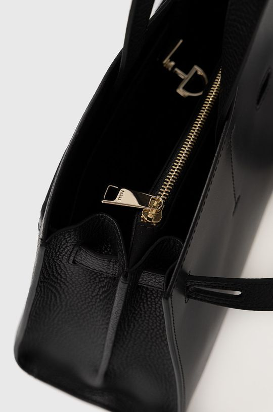 černá Furla - Kožená kabelka Margherita