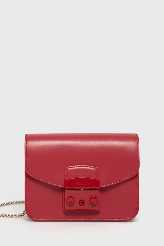 červená Furla - Kožená kabelka Metropolis Dámský