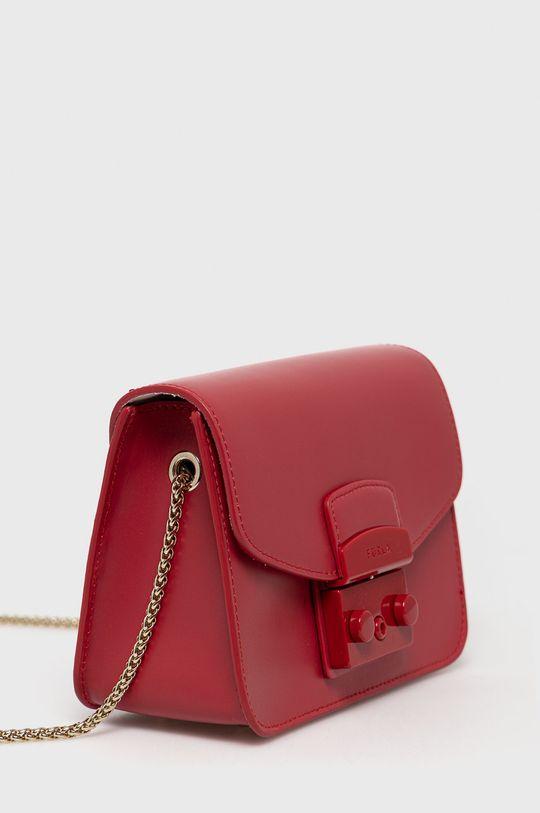 Furla - Kožená kabelka Metropolis červená