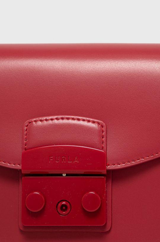 červená Furla - Kožená kabelka Metropolis