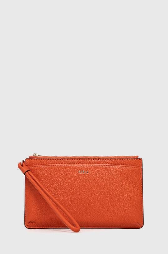 červená Furla - Kožená kosmetická taška Babylon Dámský