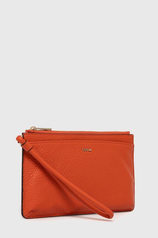 Furla - Kožená kosmetická taška Babylon červená