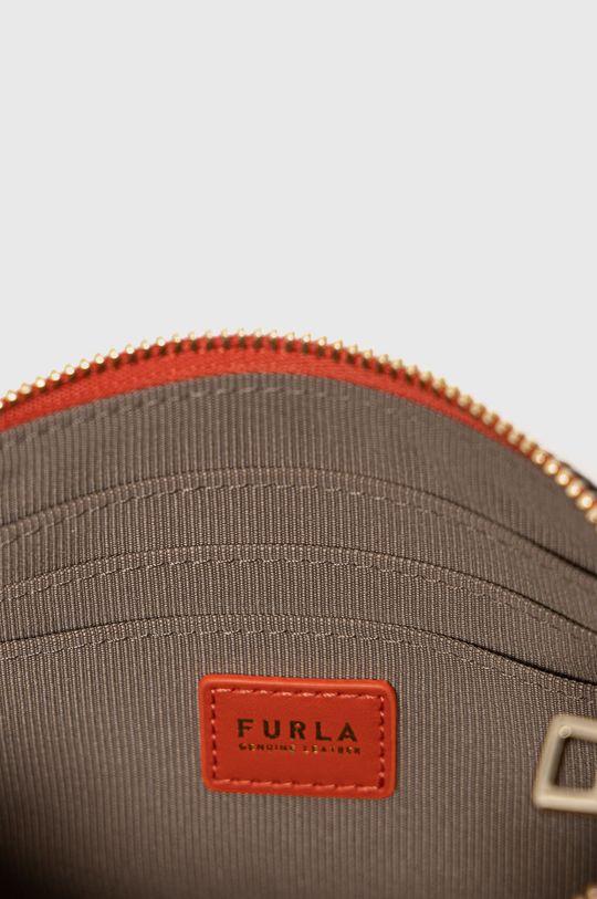 červená Furla - Kožená kosmetická taška Babylon