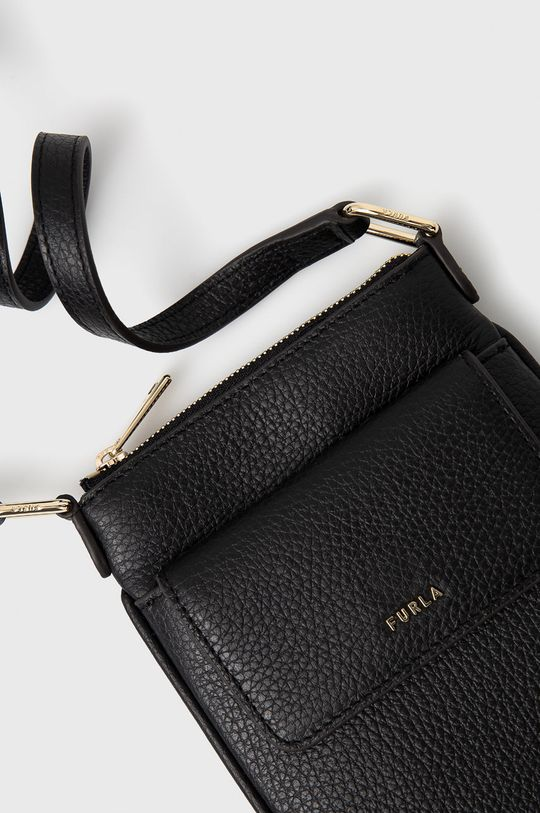 Furla - Kožená kabelka BABYLON VERTI čierna