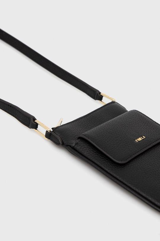 čierna Furla - Kožená kabelka BABYLON VERTI