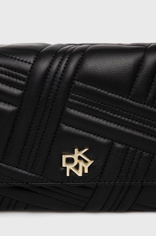 černá Dkny - Kožená kabelka