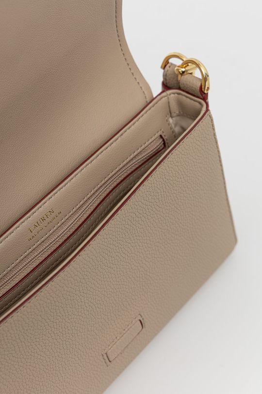 béžová Lauren Ralph Lauren - Kožená kabelka