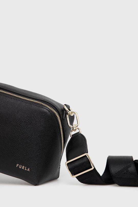 Furla - Kožená kabelka Amica S čierna