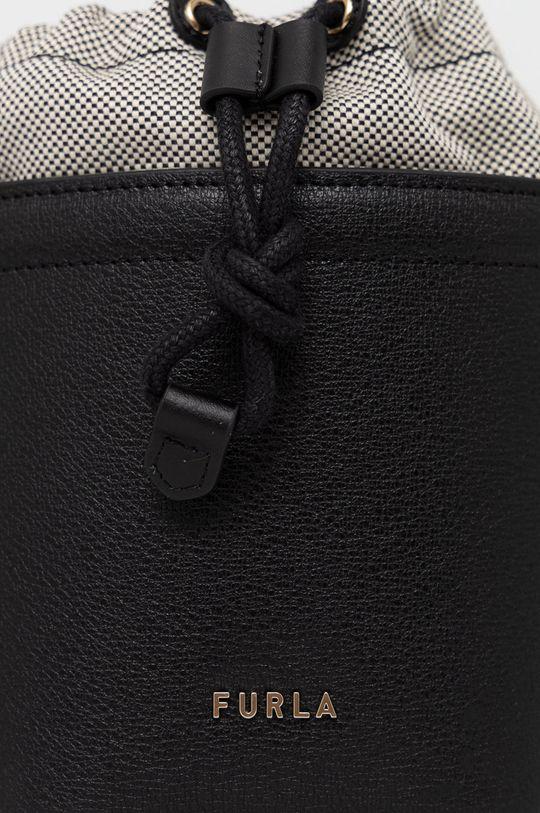 Furla - Kožená kabelka Vertigine černá