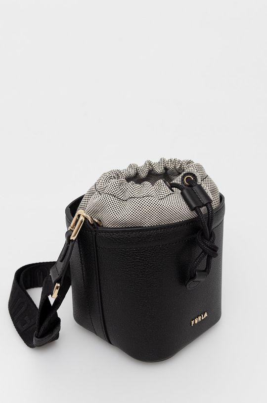 Furla - Kožená kabelka Vertigine  Vnitřek: 80% Bavlna, 13% Polyamid, 7% Polyuretan Hlavní materiál: 10% Bavlna, 15% Polyester, 75% Přírodní kůže