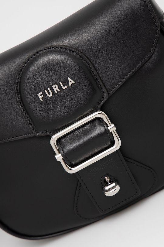 Furla - Kožená kabelka Amazzone černá