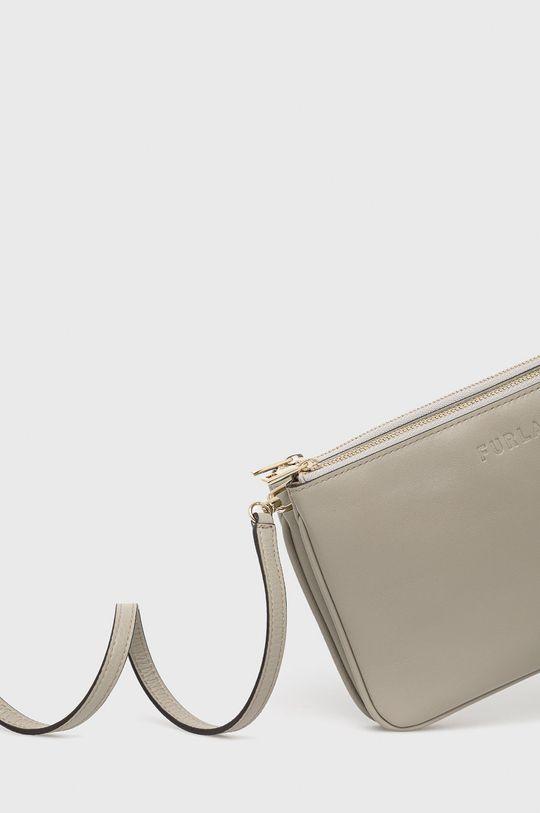 Furla - Kožená kabelka Miastella svetlosivá
