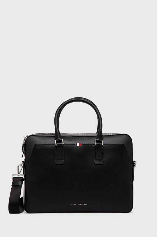 černá Tommy Hilfiger - Kožená taška Pánský