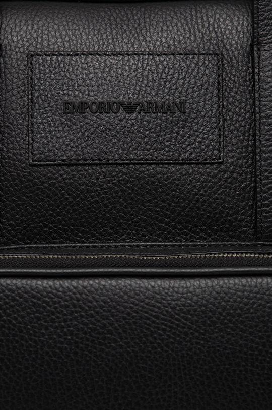 Emporio Armani - Geanta de piele negru