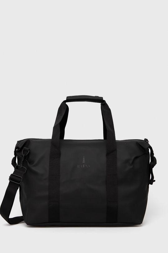 czarny Rains - Torba 1319 Weekend Bag Small Unisex