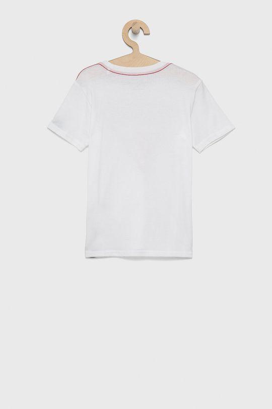 Guess - T-shirt bawełniany dziecięcy biały