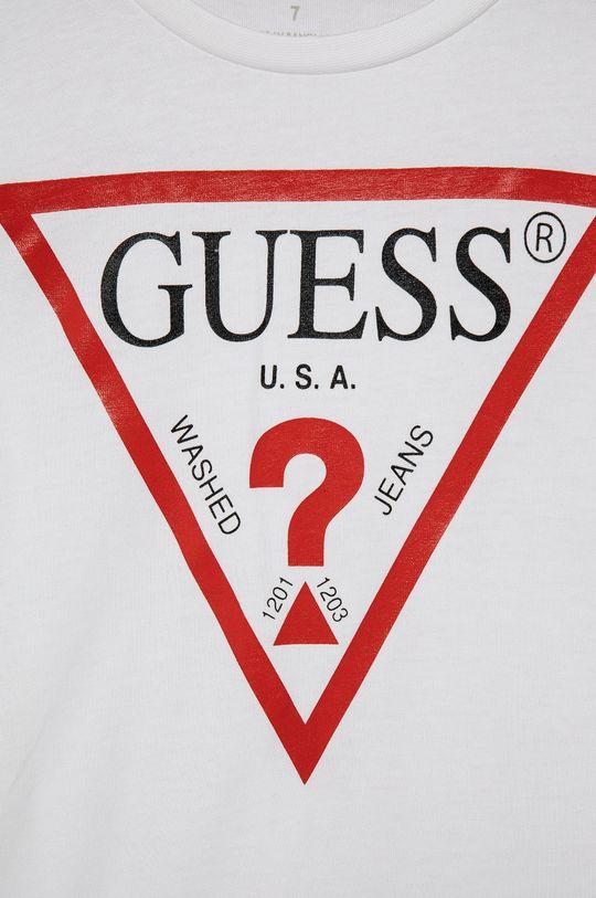 Guess - T-shirt bawełniany dziecięcy 100 % Bawełna