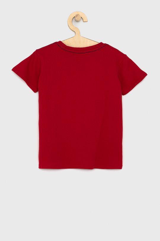 Guess - T-shirt bawełniany dziecięcy czerwony