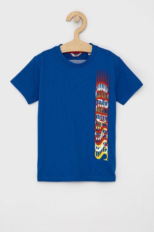 niebieski Guess - T-shirt dziecięcy Chłopięcy