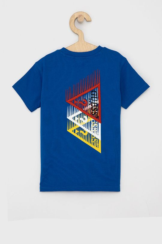 Guess - T-shirt dziecięcy niebieski