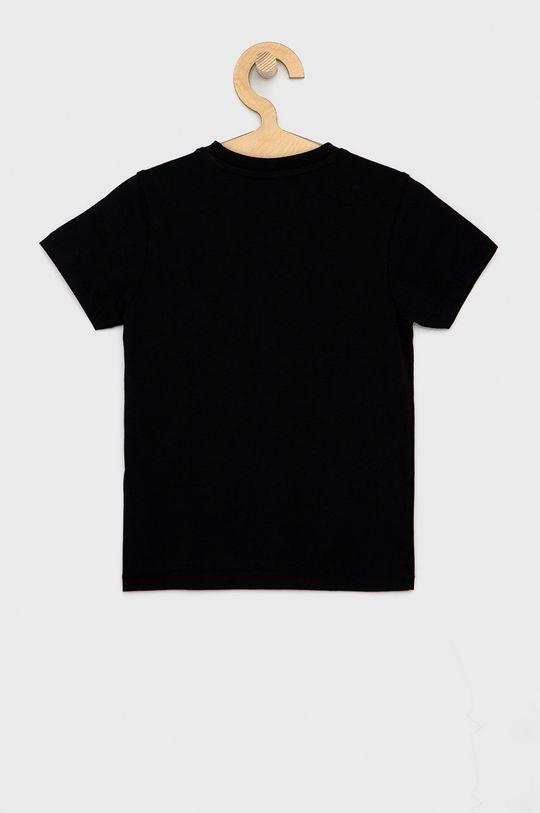Guess - T-shirt bawełniany dziecięcy czarny