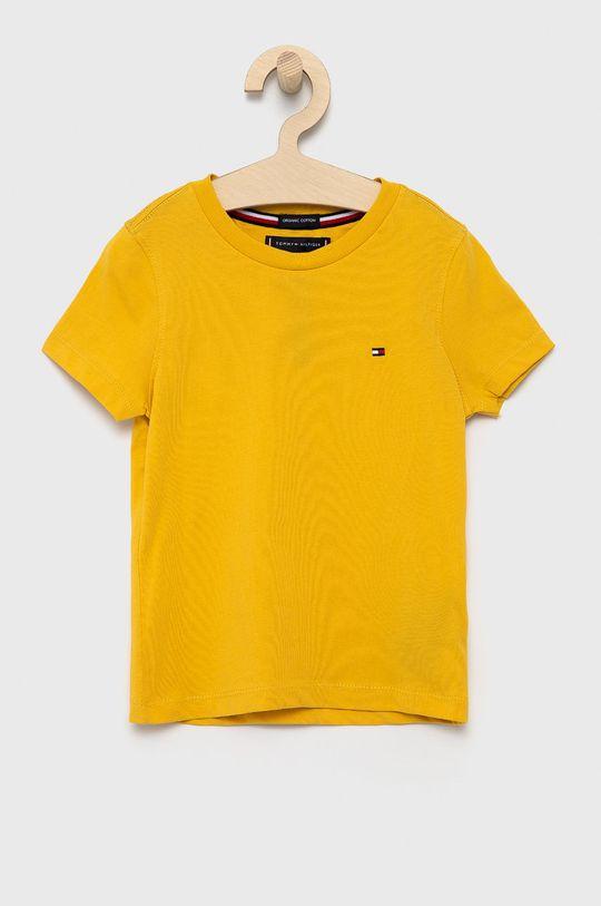 żółty Tommy Hilfiger - T-shirt dziecięcy Chłopięcy