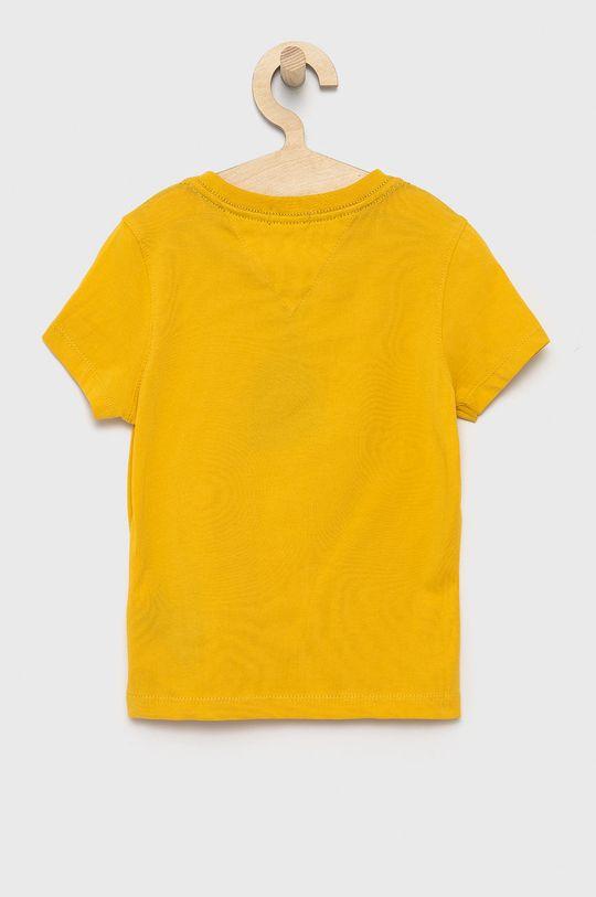Tommy Hilfiger - T-shirt dziecięcy żółty