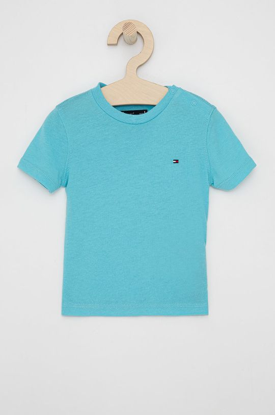 morski Tommy Hilfiger - T-shirt dziecięcy Chłopięcy