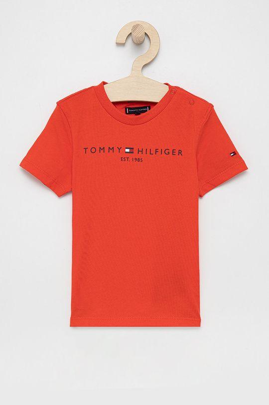 pomarańczowy Tommy Hilfiger - T-shirt bawełniany dziecięcy Chłopięcy