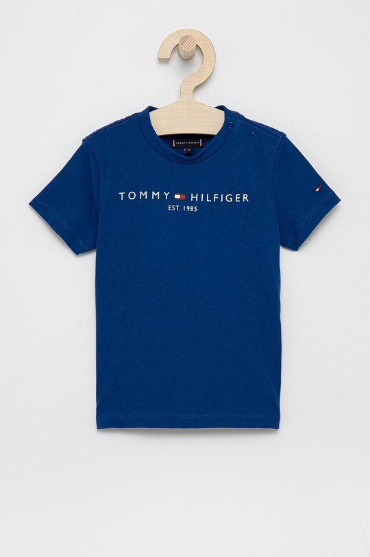 granatowy Tommy Hilfiger - T-shirt bawełniany dziecięcy Chłopięcy