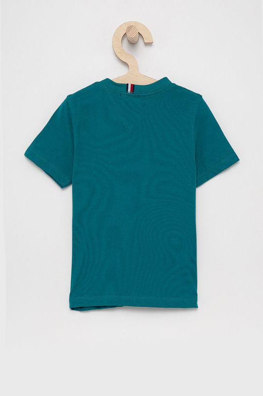Tommy Hilfiger - T-shirt bawełniany dziecięcy cyraneczka