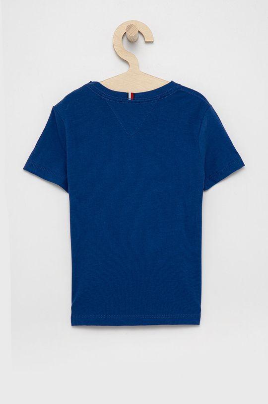 Tommy Hilfiger - T-shirt bawełniany dziecięcy granatowy