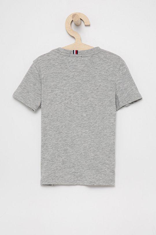 Tommy Hilfiger - T-shirt bawełniany dziecięcy szary