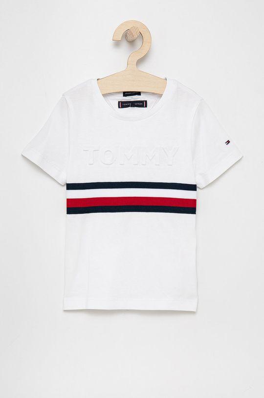 biały Tommy Hilfiger - T-shirt bawełniany dziecięcy Chłopięcy
