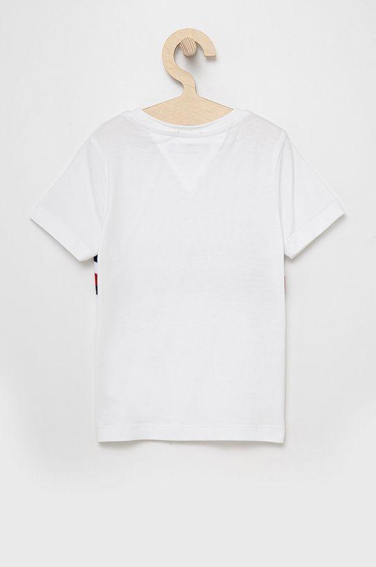Tommy Hilfiger - T-shirt bawełniany dziecięcy biały